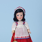"9"" Alexander compo 1930s Little Betty Italian International Doll"