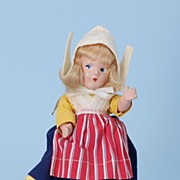 "9"" Alexander compo 1930s Little Betty Dutch girl International Doll"