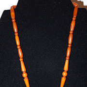 Butterscotch Bakelite Necklace c. 1930