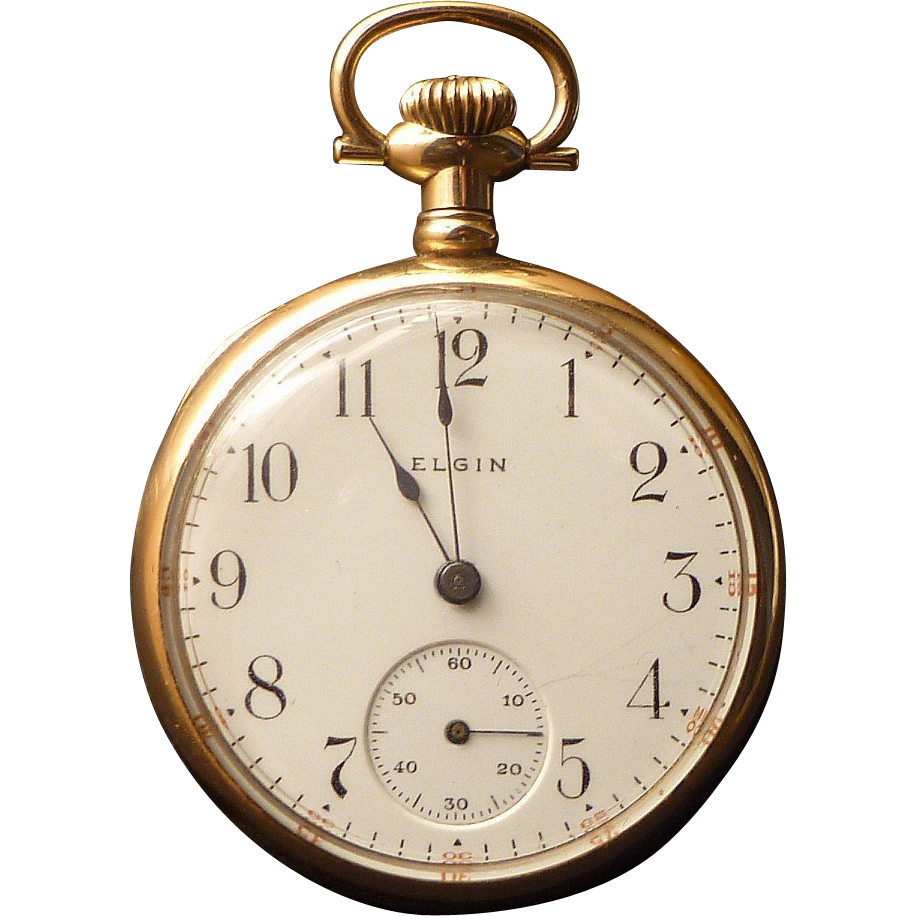 elgin antique open pocket 14k