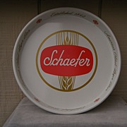 1960�s White Schaefer Advertising Beer Tray