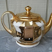 Price Kensington Gold and White Teapot 3105.