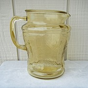 Normandie Amber Bouquet and Lattice Pitcher