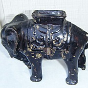 Cast Iron Circus Elephant Still Bank