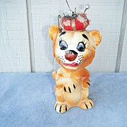 Davar Ceramic Pincushion and Tape Measure Tiger