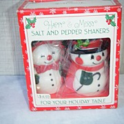 Happy & Merry Hallmark Salt and Pepper Shakers