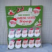 Boxed Hand Decorated Santa Soaps Boxed Japan