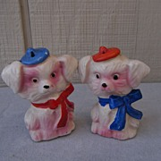 Scottie Schnauzer Salt and Pepper Shakers Japan