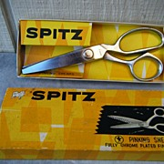 Spitz 7 Inch Chrome Plated Pinking Shears Boxed
