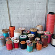 Corticelli, Elephant, Clarks Older Wood Spools of Thread