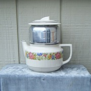 1930-40�s Harker Pottery Petit Point Teapot/Coffee Pot
