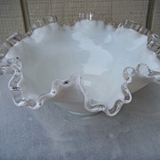 Fenton Silver Crest Round 8  Inch Bowl