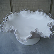 Fenton Silver Crest 8  Inch Flared Bowl or Comport