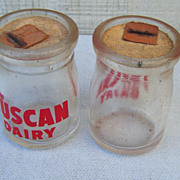 Two Tuscan Dairy One Ounce Advertising Creamers