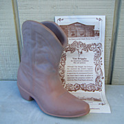Van Briggle Pottery Western Boot Signed