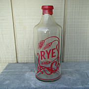 Glass Rye Bottle Decanter