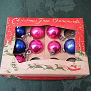 Miniature Box Christmas Tree Ornaments Japan
