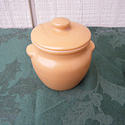 Dutchess Cheese Milk Glass Crock