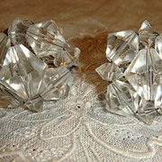 Vintage Sorrento Sterling Crystal Earrings