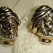 Vintage Large Turbanned Man SWANK Cufflinks