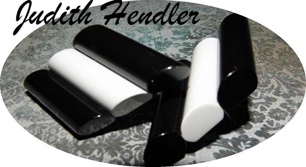 Judith Hendler Black & White Acri-Gems Earrings with original label