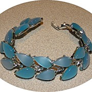 Vintage Baby Blue Thermoset Tile Bracelet