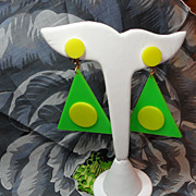 Vintage 1960s Go Go Dangling Earrings Big & Funky!