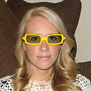Vintage Fun & Funky 1960s Bright Yellow Rectangle Sunglasses