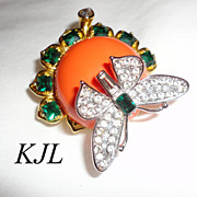 KJL Treasures of the Duchess Engagement Pin Butterfly Brooch