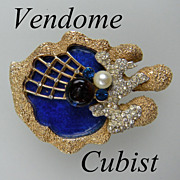 Vendome Helen Marion Cubist Brooch Exceedingly Rare! on Consignment