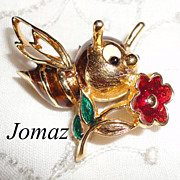 Vintage Jomaz Mazer Brothers Whimsical Bee Pin Brooch