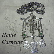 Hattie Carnegie Rare Geisha Water Bearer Necklace Asian Theme