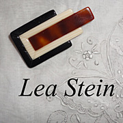 Vintage Lea Stein Paris Geometric Small Brooch Pin