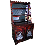 Rococo Rosewood  Etagere Cabinet in the Manner of Meeks