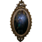 Circa 1850 Gilded Rococo Parlor Mirror