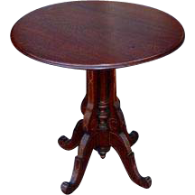 Victorian round parlor table