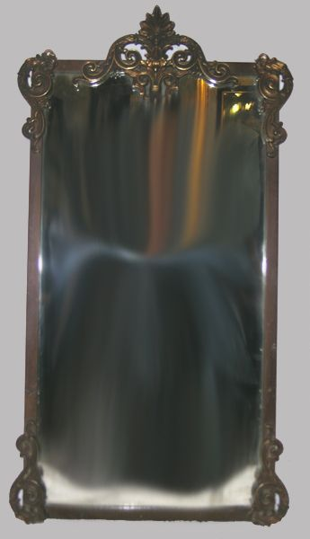Circa 1920 Brass Wall Mirror