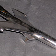 1953-54 Chevy Hood Ornament Chrome Jet Plane
