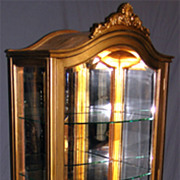 Louis XV Gilded Curio Cabinet Circa 1890