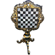 Early 19thc Venetian Gilded & Lacquered Chess Table