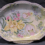 Hand Painted Limoges Pin Tray