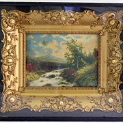 Fine Impressionist Landscape Painting In a Shadow Box Frame