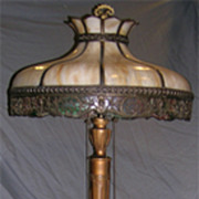 Circa 1925 Tall Important Standing Parlor Light