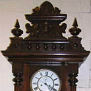 Vienna Regulator Wall Clock Victorian Oak
