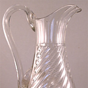 Extraordinary Circa 1850 Large Crystal Ewer In a Classical Taste