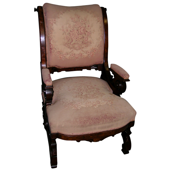 Fine comfortable aesthetic movement arm chair eastlake walnut from
