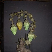 "Very Rare ""The Fox and the Grapes"" Allegorical Lamp"