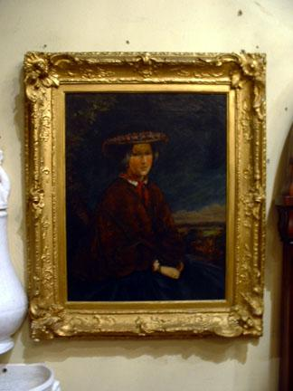 Unsigned, Victorian Oil on Canvas Of A Women In A Hat