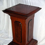 Circa 1875.  Walnut and Elm Burl Podium or Pedestal