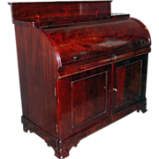 American Classical Cylinder Desk, Signed J. and J.W. Meeks